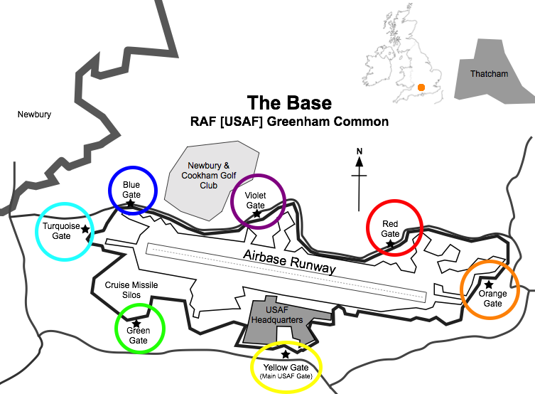 Greenham Common Peace Camp Map